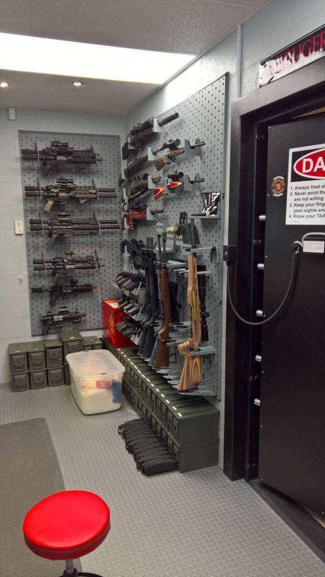 A Guy Made A Secret Room Where He Keeps A Real Arsenal