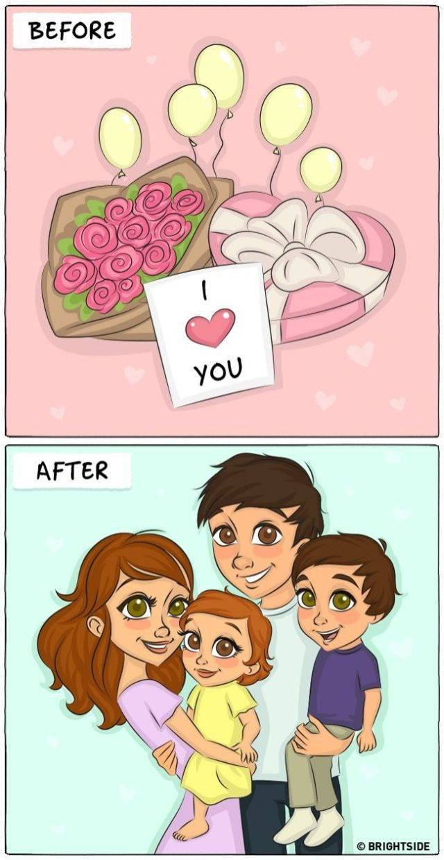 Drawings That Perfectly Illustrate The Life Before And After Marriage