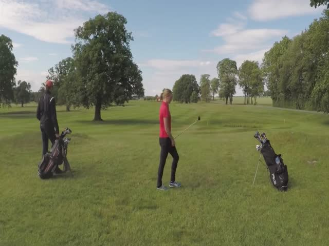 This Drone Shouldn't Have Messed With This Golfer Chick