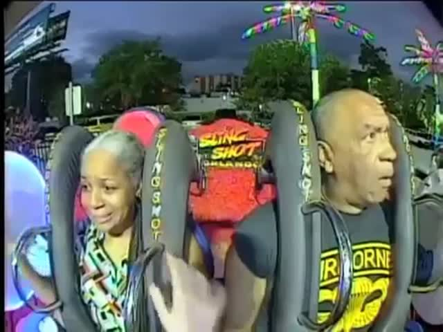 Retired U.S. Airborne Paratrooper Owns The Slingshot Ride