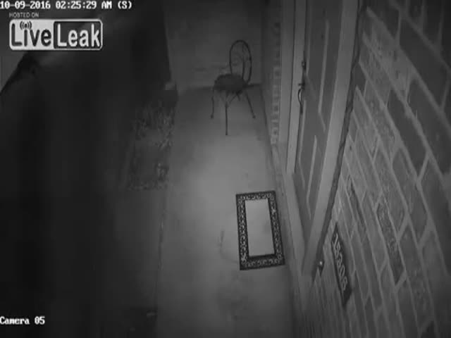 One Creepy Footage Of A Clown With A Knife Trying To Get Into The House