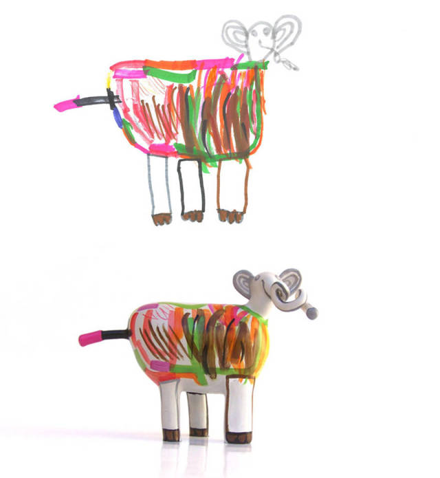 Kids' Drawings Turned Into 3d Figurines
