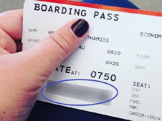 The Reason Why It Is Dangerous To Post A Photo Of Your Boarding Pass Online