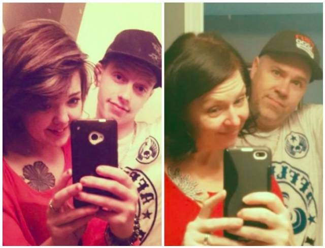 These Parents Snap Way Better Selfies Than Their Children