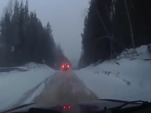 Why Speeding On Icy Road In Russia Is Not A Good Idea