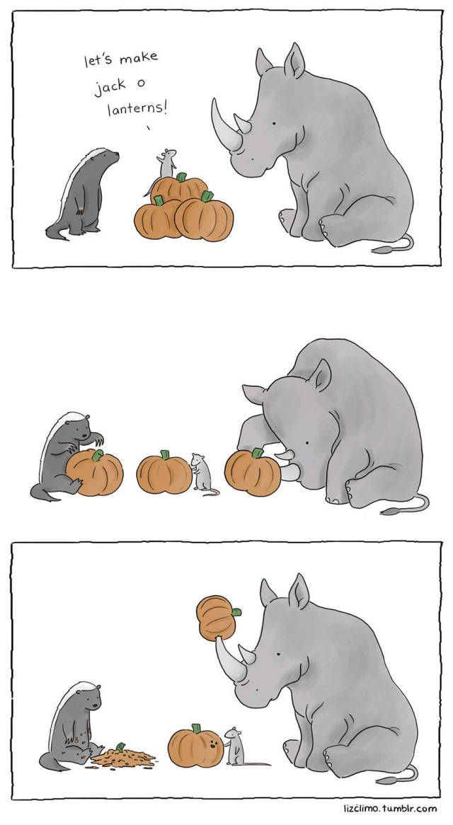 What It Would Look Like Of Animals Celebrated Halloween