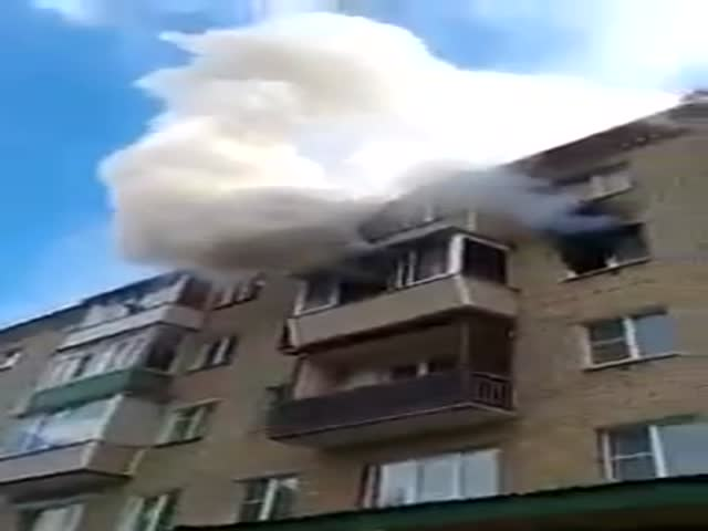 Russian Family Jumps From A Fifth Floor After A Fire Broke Out In Their Apartment Building
