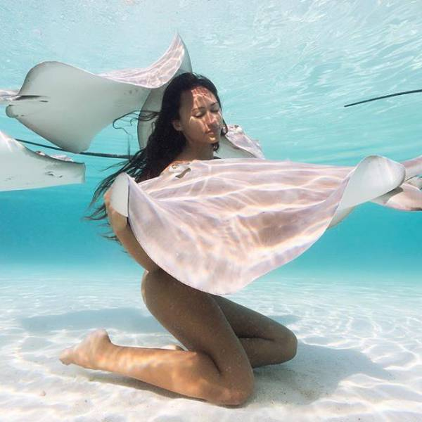 "A Beautiful Underwater Photo Session Of A Sexy ""Stingray Queen"""
