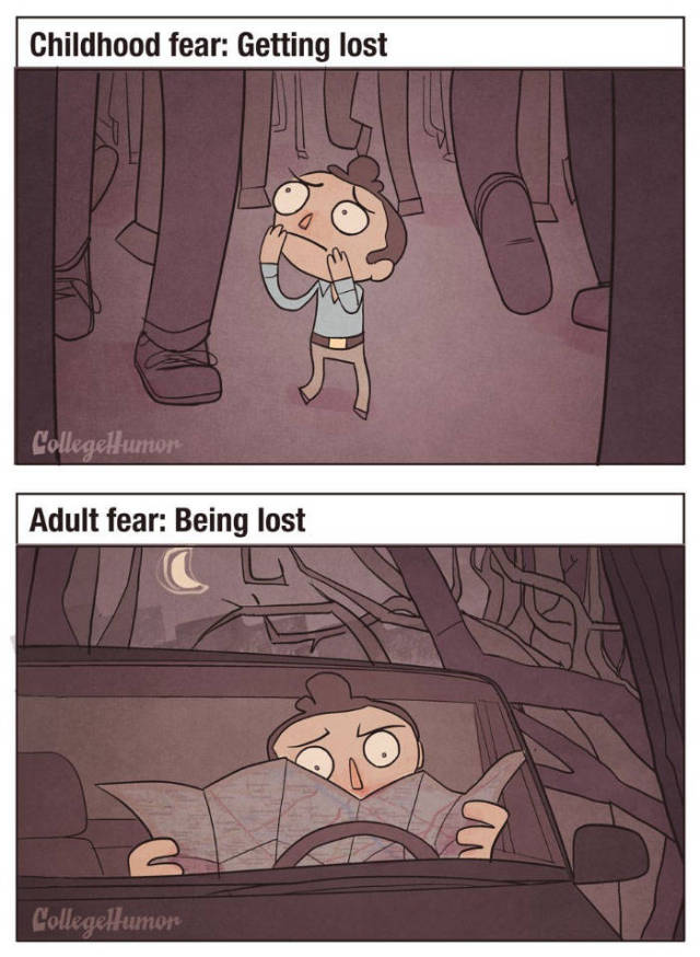 What Fears A Kid Compared To What Fears An Adult
