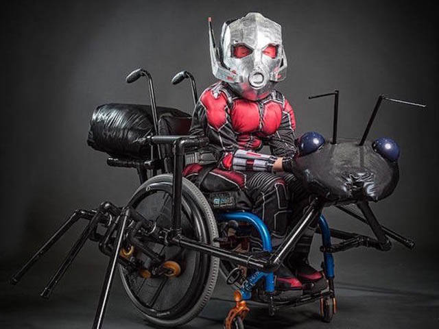 Father Built An Amazing Ant Man And Antony Wheelchair Costume