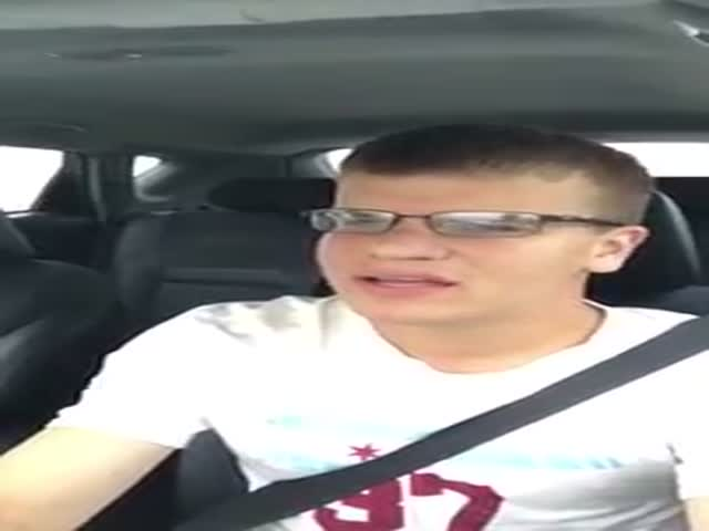 Guy Was Singing In A Car When He Suddenly Hydroplaned In A Heavy Rain And Flipped