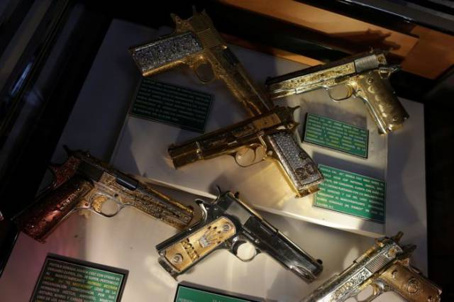 Drug Barons Really Liked Their Guns All Shiny