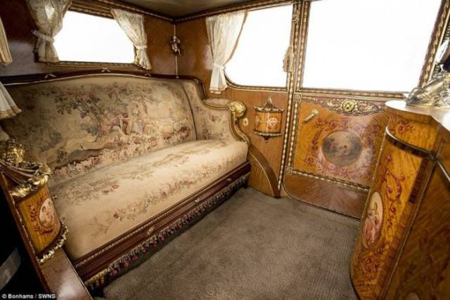 Rare Rolls-Royce Phantom I Of 1929 That Looks Like French Palace Inside Is Put Up For Auction