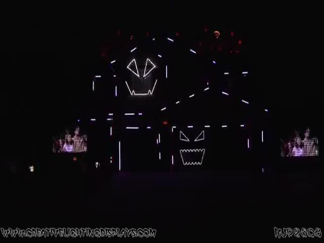 Impressive Halloween Light Show