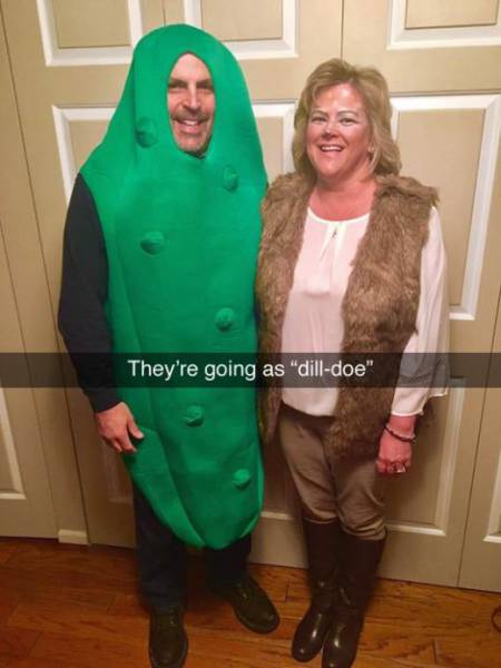 Clever People Created Funny Halloween Costumes Filled With Pun