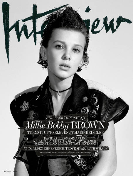 "Girl Who Plays 'Eleven' On ""Stranger Things"" Looks Kickass On Her Very Fist Magazine Cover"