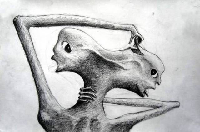 People Suffering From Schizophrenia Drew These Disturbing Images Which Are Actually Pretty Awesome