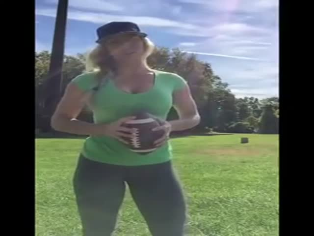 Girl Who Wanted To Be A Quarterback Shows Off Her Skills