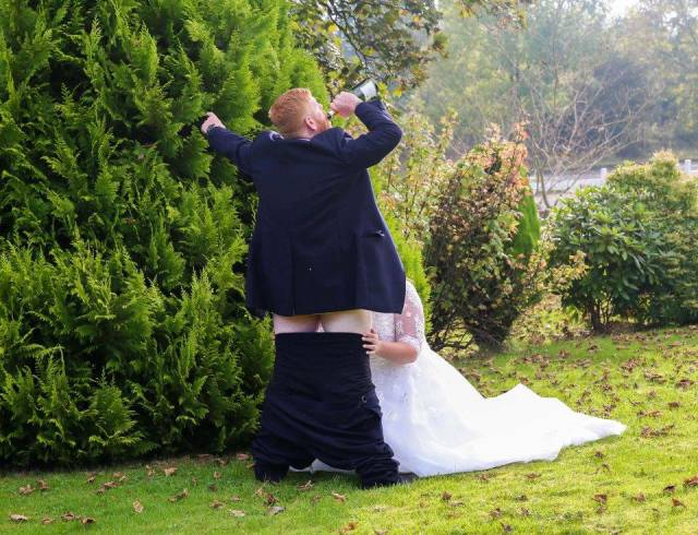 Couple Wanted Their Wedding Photo Session To Be Spiced Up A Bit
