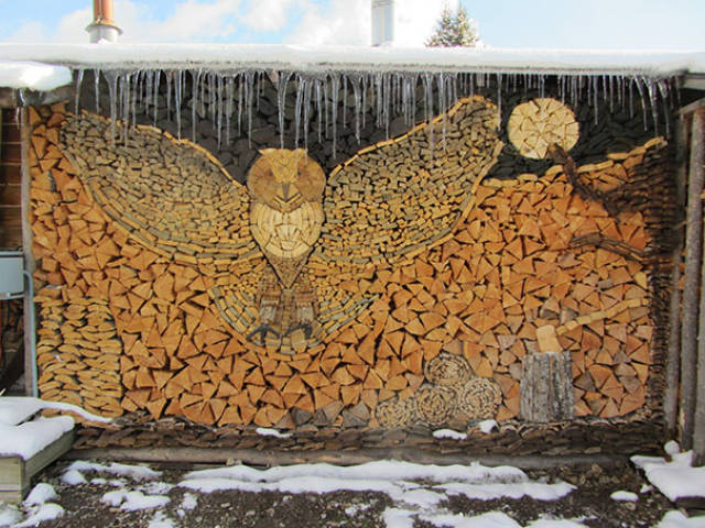 People Turned Firewood Stacking Into An Art