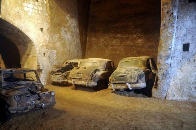 There Are Hundreds Of Old Abandoned Vehicles Buried Under Naples