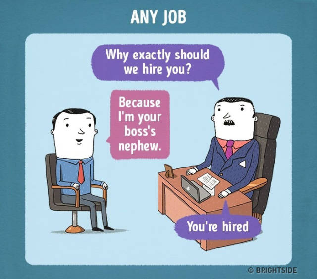 What A Job Interview Would Be Like In Every Big Company