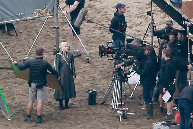 "Emilia Clarke On The Set Of The Seventh Season Of ""Game Of Thrones"""