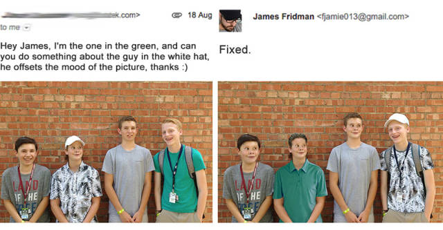 When You Want Your Photos To Get Fixed With Photoshop Don't Ask The Wrong Guy To Do It