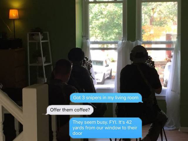 Guy Skillfully Narrates Potential Suicide-By-Cop Situation After Snipers Set Up In His House