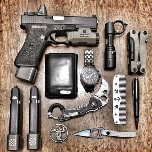 Great Collection Of Weapons And Survival Kits