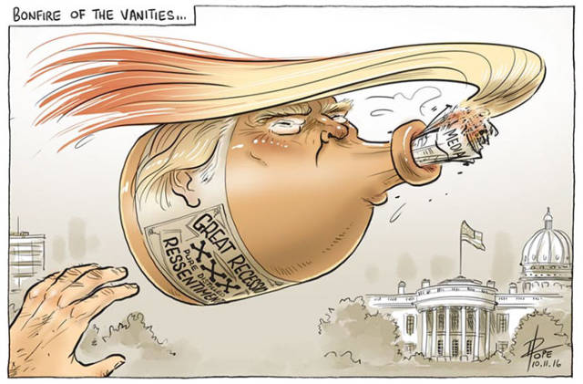 Caricatures And Cartoons Reacting To Donald Trump Winning The US - 22 cartoonists from around the world respond to trumps election win