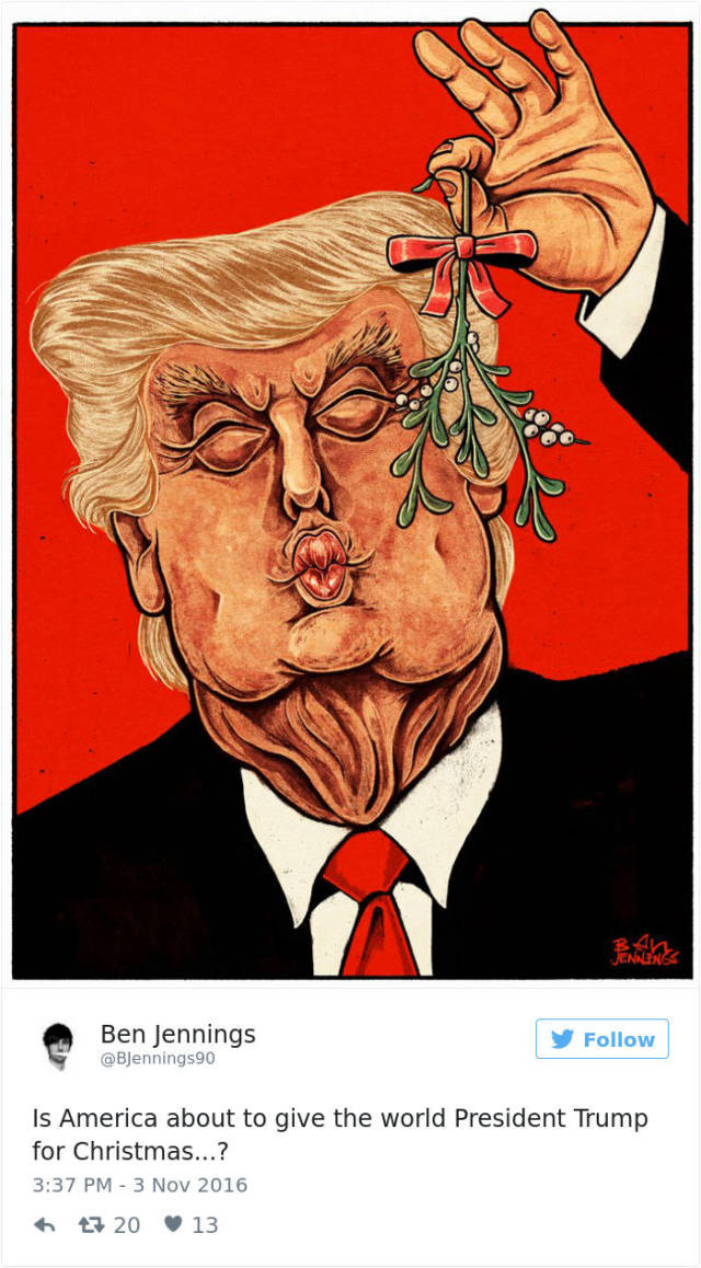 Caricatures And Cartoons Reacting To Donald Trump Winning The US Election
