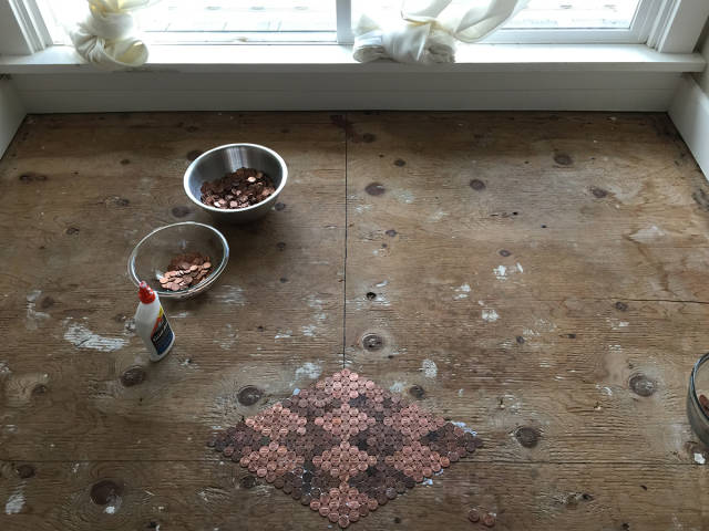 This Floor Covered With Pennies Looks Incredible