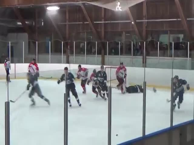 Hockey Trainer Didn't Like His Player Being Punched By A Ref