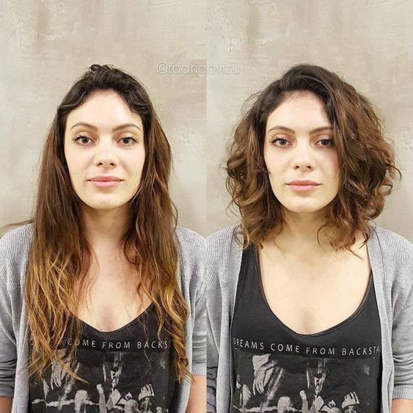 Before And After Photos Of How A Simple Hairdo Can Totally Transform A Person's Face