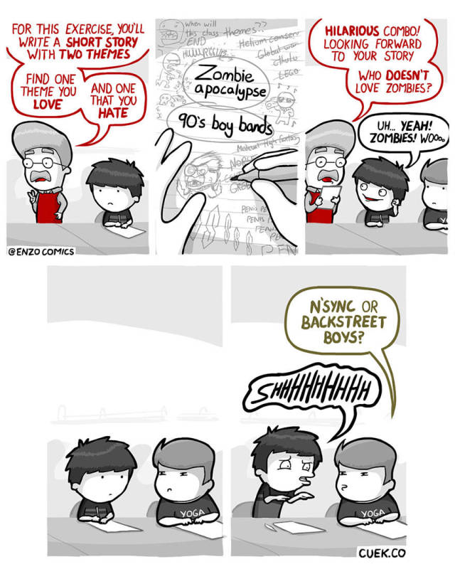 """""""Cheer Up, Emo Kid!"""" Is A Funny Webcomics Series With Unexpected Endings"""