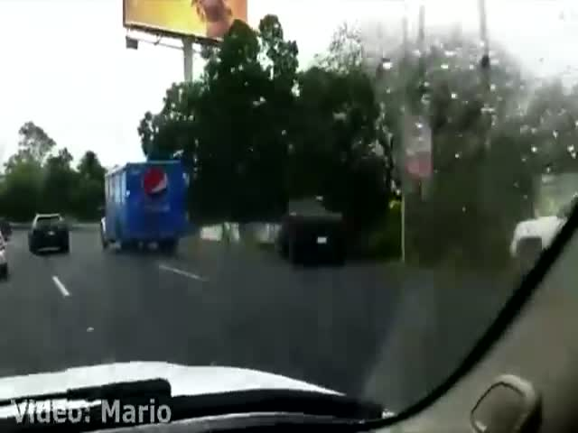 A Kid Driving 100 km/h On A Highway In Mexico