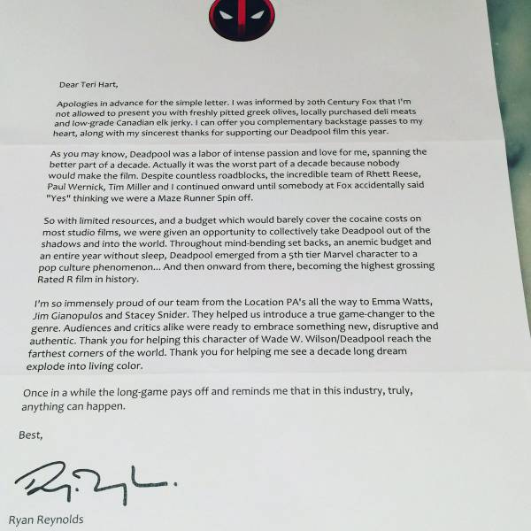 Ryan Reynolds Strikes Again With Hilarious Letter To Academy Voters To Win An Oscar