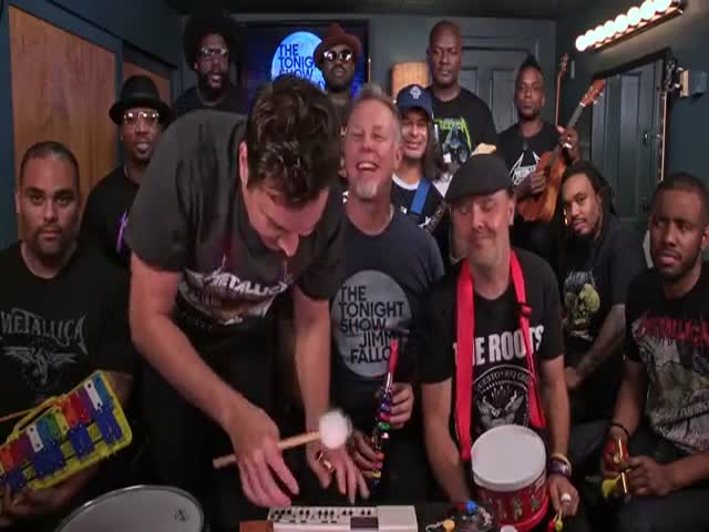 Jimmy Fallon, Metallica And The Roots Sing