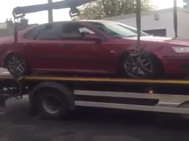 He Didn't Want His Car To Be Towed, So He Did This