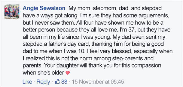 Mom Writes A Message Where She Thanks Her Ex's Girlfriend For Loving Her Daughter