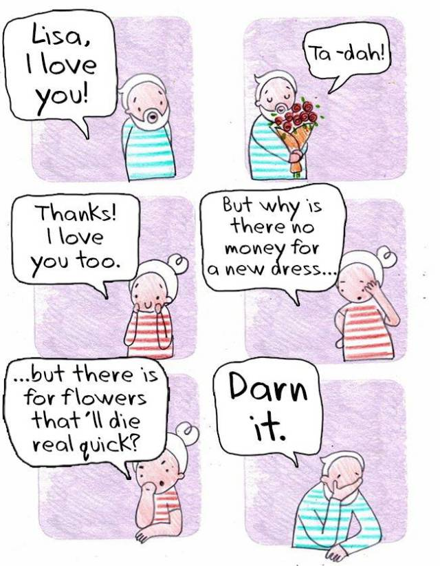 Cute And Amusing Comics About How Men Perceive Women's Oddities