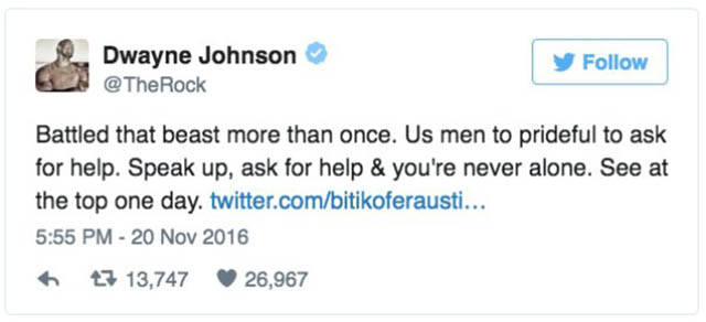 The Rock Gave A Valuable Advice On Twitter To A Kid Who Really Needed It