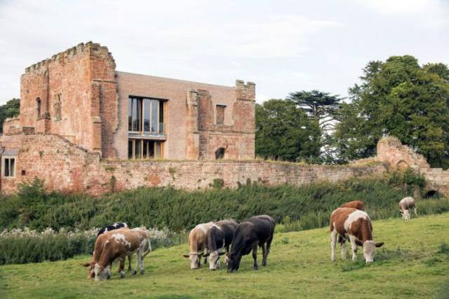 There Is Modern House Built Inside This Half-Destroyed Castle