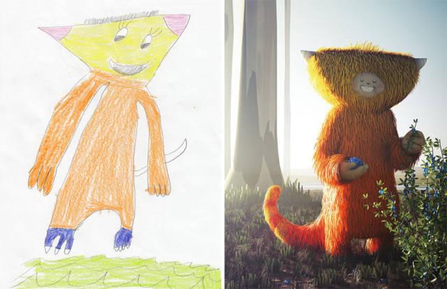 Artists Recreate Kids