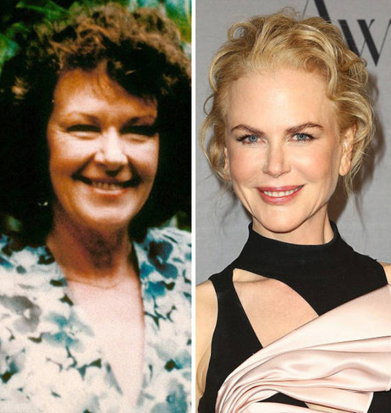 Celebrity Women Over 40 Pictured Next To Their Their Mothers At The Same Age