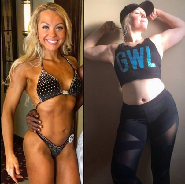What A Body Of A Female Bodybuilder Looks Like When She Isn't Training