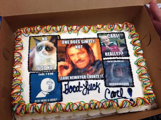 There Is Nothing Better Than To Say Goodbye To Your Co-Worker With A Funny Cake