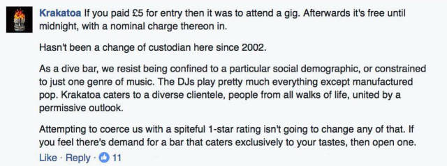Guy Who Left One Star Review Gets Totally Owned By A Bar Owner