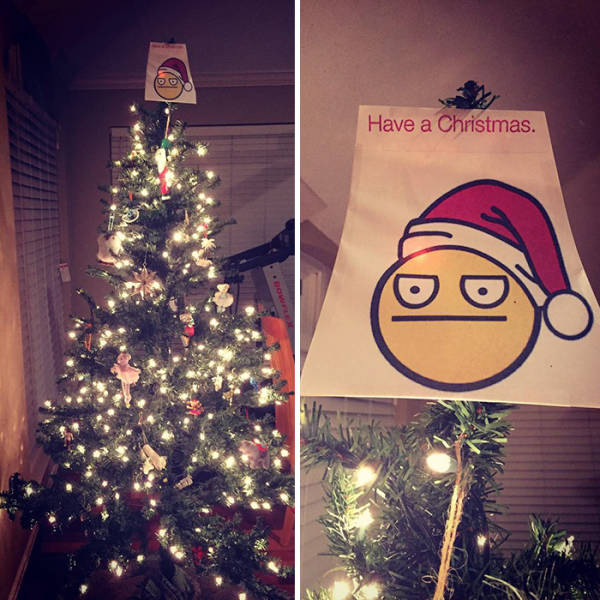 The Funniest And The Most Inventive Christmas Tree Toppers Ever